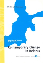 Omslag för Contemporary change in Belarus