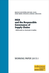 Omslag för IKEA and the Responsible Governance of Supply Chains: IKEA's work on chemicals in textiles